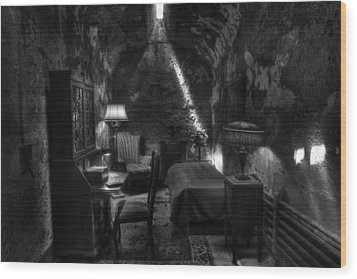 Al Capone's Cell IIi - Easton State - Scarface - The Syndicate - The Chicago Outfit   Wood Print by Lee Dos Santos