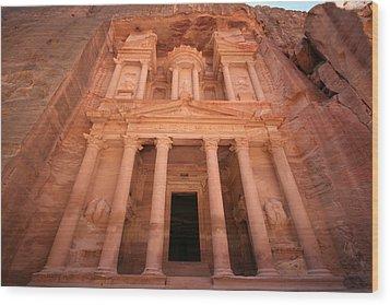 Al Khazneh (the Treasury), Petra, Jordan Wood Print by Joe & Clair Carnegie / Libyan Soup