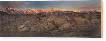 Alabama Hills Sunrise Wood Print by Joe  Palermo