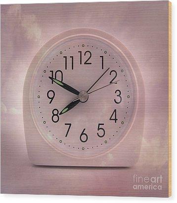 Alarrm Clock Wood Print by Bernard Jaubert