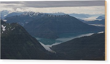 Alaska Coastal Serenity Wood Print by Mike Reid