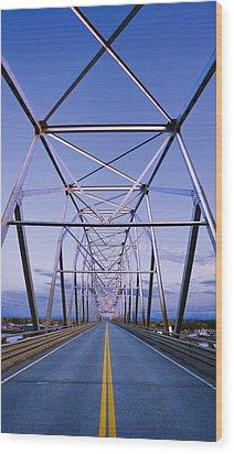 Alaska Native Veterans Honor Bridge Wood Print by Yves Marcoux