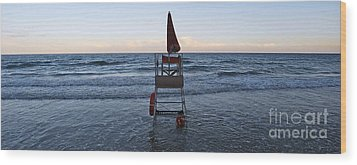 Wood Print featuring the photograph Alassio Sunset Facing East by Andy Prendy