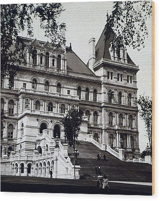 Albany New York - State Capitol Building - C 1903 Wood Print by International  Images