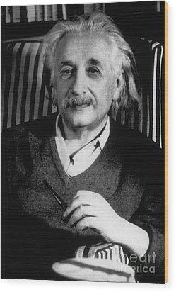 Albert Einstein, German-american Wood Print by Science Source