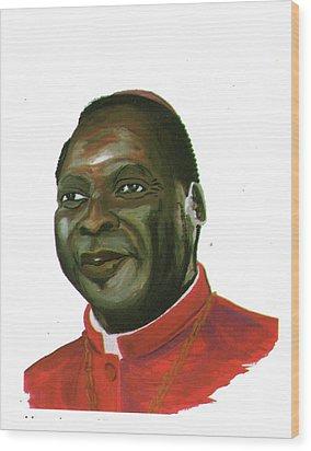 Albert Ndongmo Wood Print by Emmanuel Baliyanga
