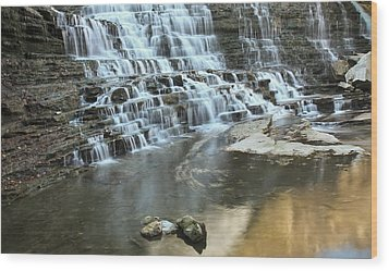 Wood Print featuring the photograph Albion Falls-hamilton-ontario by Nick Mares