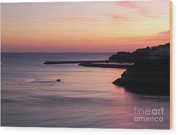 Wood Print featuring the photograph Albuferian Sunset by Lynn Bolt