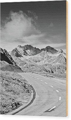 Albula Pass Road Wood Print by daitoZen