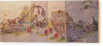Album Of Crickets Wood Print by Debbi Saccomanno Chan