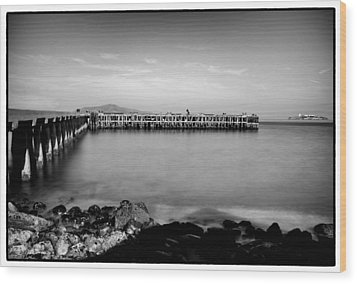 Alcatraz From Fort Point Wood Print by Tanya Harrison