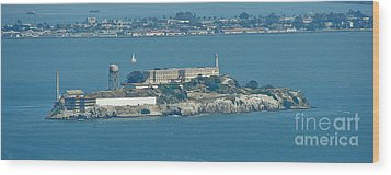 Alcatraz In April Wood Print by Suze Taylor