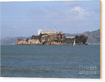 Alcatraz Island In San Francisco California . South Side . 7d14288 Wood Print by Wingsdomain Art and Photography