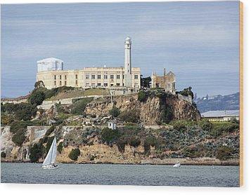 Alcatraz Island Wood Print by Luiz Felipe Castro