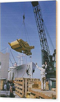 Alcoa Ship Destines For South America Wood Print by Justin Locke