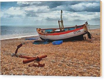 Aldeburgh Fishing Boat Wood Print