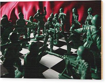 Alekhine's Gun Wood Print by Lon Casler Bixby