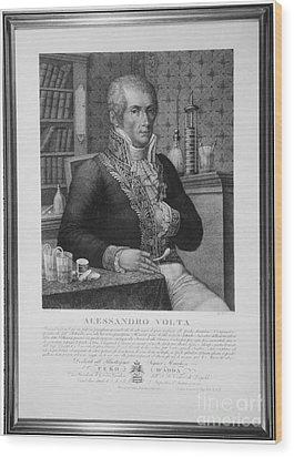 Alessandro Volta, Italian Physicist Wood Print by Omikron