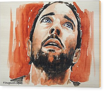 Alex O'loughlin Wood Print by Francoise Dugourd-Caput