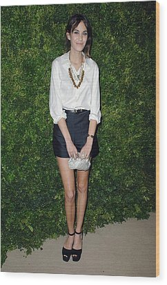 Alexa Chung At Arrivals For Cfda Vogue Wood Print by Everett