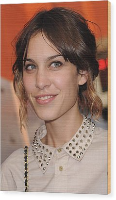 Alexa Chung At Arrivals For Inglourious Wood Print by Everett