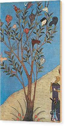 Alexander The Great At The Oracular Tree Wood Print by Photo Researchers