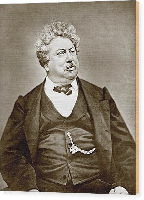 Alexandre Dumas Père 1802-1870 Popular Wood Print by Everett