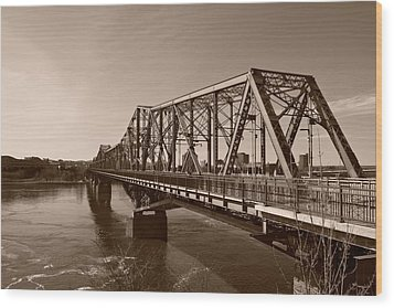 Wood Print featuring the photograph Alexandria Bridge by Josef Pittner
