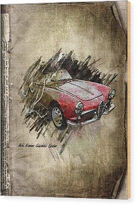 Alfa Romeo Wood Print by Svetlana Sewell