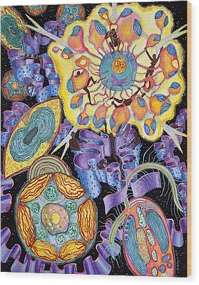Algae Wood Print by Shoshanah Dubiner