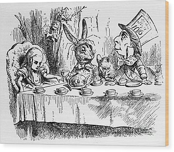 Alice In Wonderland Wood Print by Photo Researchers, Inc.