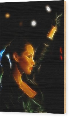 Alicia Keys - Singer Wood Print by Lee Dos Santos