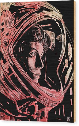 Alien Sigourney Weaver Wood Print by Giuseppe Cristiano