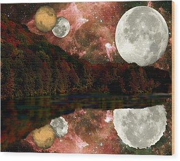 Alien World Wood Print by Sarah McKoy