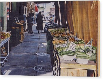 Alioto's Produce Wood Print by James Guentner