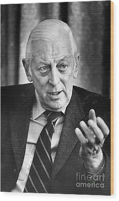 Alistair Cooke (1908-2004) Wood Print by Granger