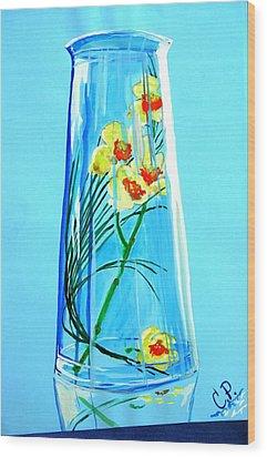 Alive Flowers Wood Print by Sonya Ragyovska