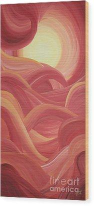 Alizarinscape Wood Print by Ginny Gaura