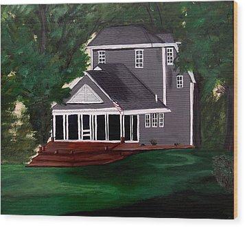All American Wood Print by Ayasha Loya