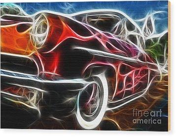 All American Hot Rod Wood Print by Paul Ward