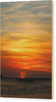 Wood Print featuring the photograph All Hallows Eve Sunset by Rod Seel