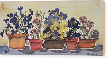 All In A Row Wood Print by Regina Ammerman