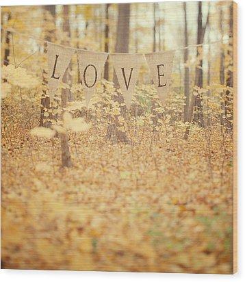 All Is Love Wood Print by Irene Suchocki