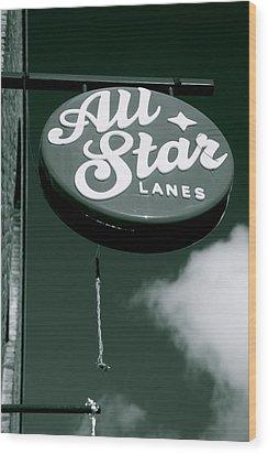 All Star Lanes Wood Print by Jez C Self