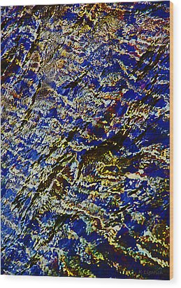 Wood Print featuring the digital art All That Glitters by Kerri Ligatich