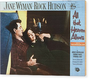 All That Heaven Allows, Rock Hudson Wood Print by Everett