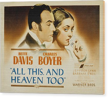 All This And Heaven Too, Charles Boyer Wood Print by Everett