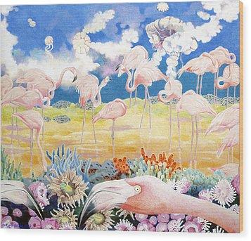 Allegro Andante Wood Print by Kyra Belan