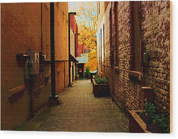 Wood Print featuring the photograph Alley Arcade  by Bob Whitt