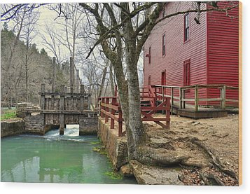 Wood Print featuring the photograph Alley Spring Mill 34 by Marty Koch